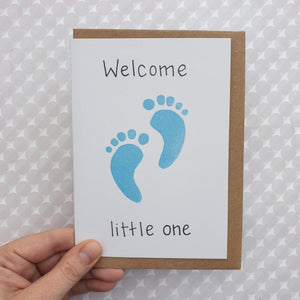 Baby Boy Card - Welcome Little One