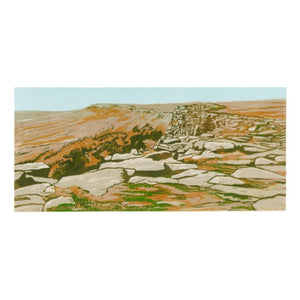 "Art Card - ""Walking the Edge"" - Stanage Edge"