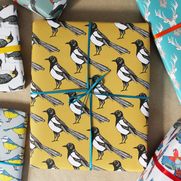 Magpie Wrapping Paper