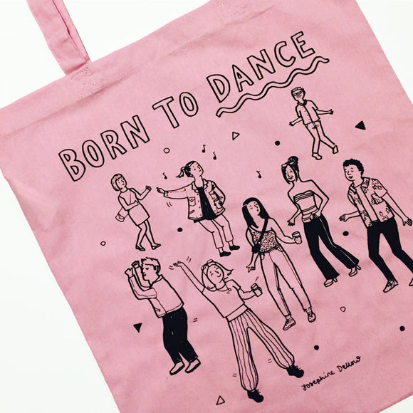 Born to Dance Screenprinted Tote Bag