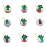 Cactus Fabric Badges