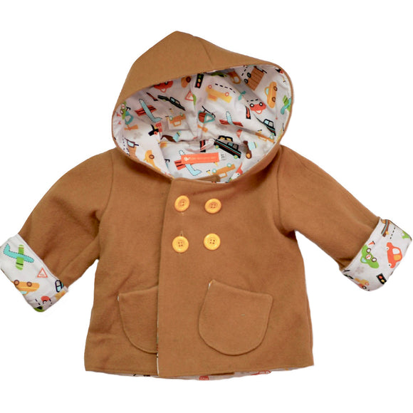 Age 3 Kids Camel Wool Coat