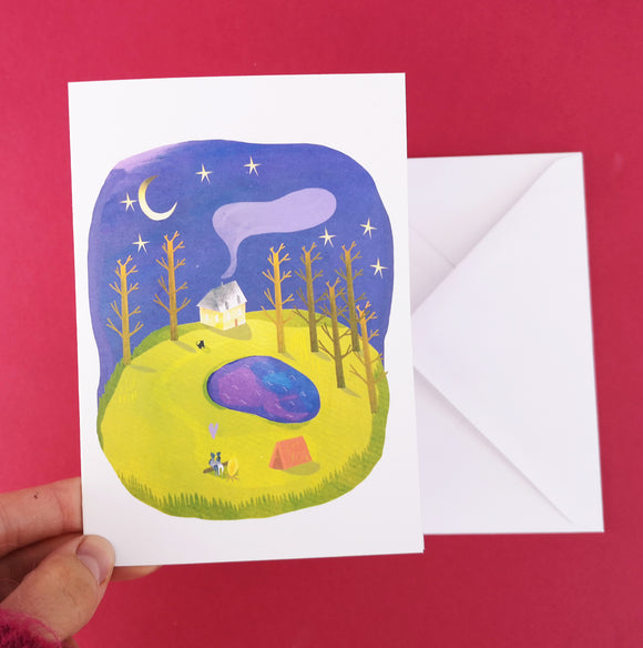 Camping Greetings Card