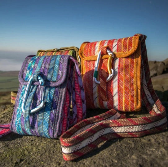 Recycled Climbing Rope Karabiner Bag