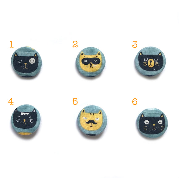 Cartoon Cat Fabric Badges