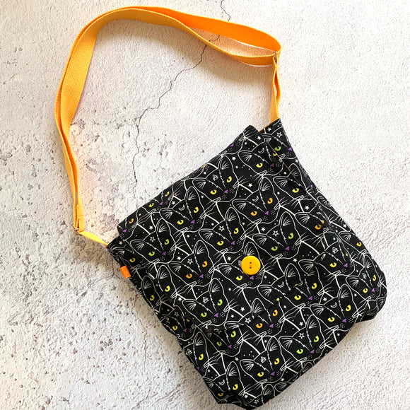 Black Cats Reversible Shoulder Bag