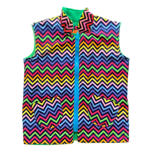 Age 4 Gilet - Multicoloured Chevrons