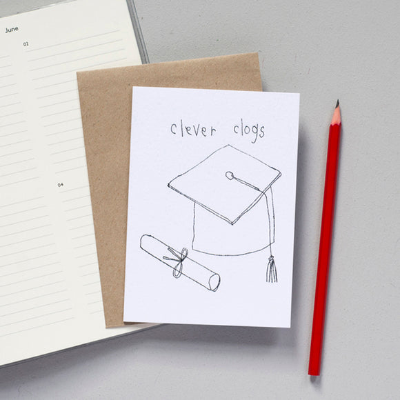 'Clever Clogs' Greetings Card