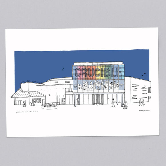 The Crucible Sheffield Theatre Limited Edition A3 Print