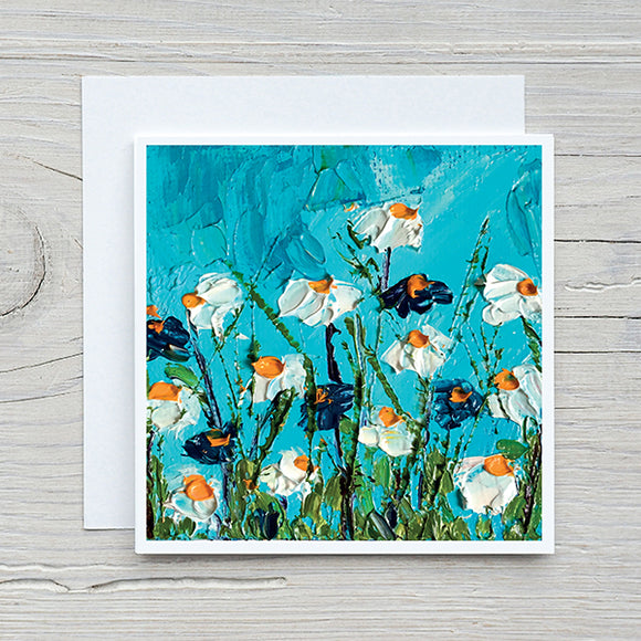 Floral Card 18 - White Flowers