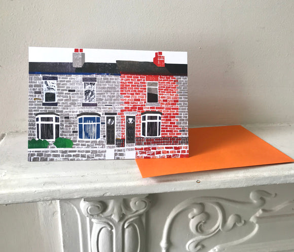Terraced houses Greeting Card