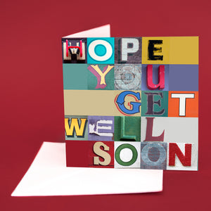 "Typography Card ""Hope You Get Well Soon"""