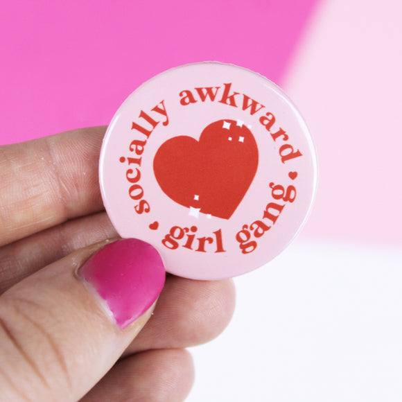 Socially Awkward Girl Gang - Badge