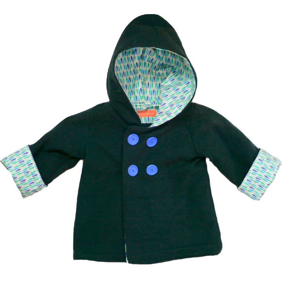 Age 2 Green Wool Duffle Coat
