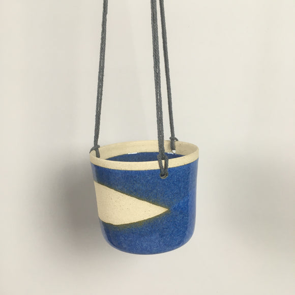 Handmade pottery hanging planter
