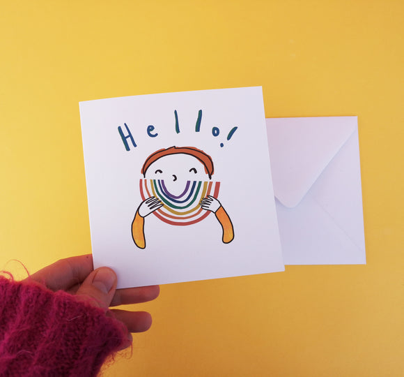 Hello Rainbow Card