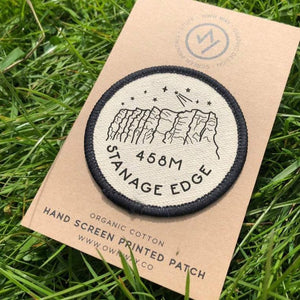 Stanage Edge - Peak District - Organic Cotton Patch
