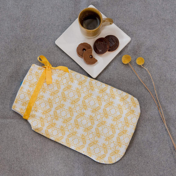 Bee Print Hot Water Bottle