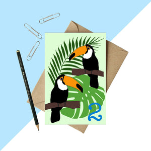 Age 2 Toucan Birthday card