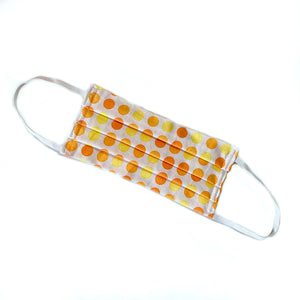 Citrus Dots Fabric Face Mask