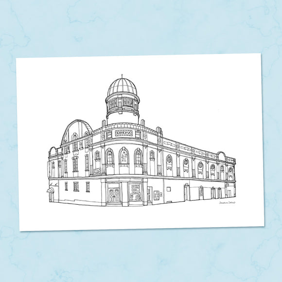 Abbeydale Picture House Sheffield A4 Illustration Print