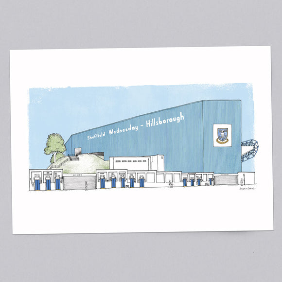 Sheffield Wednesday A3 Colour Illustration Print