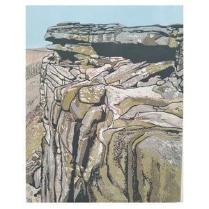 "Art Card - ""Robin Hood's Cave - Stanage Edge """