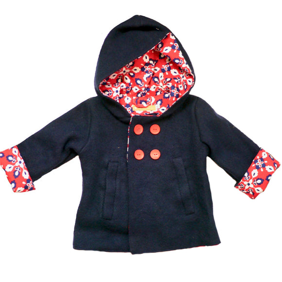 Age 3 Kids Navy Wool Coat