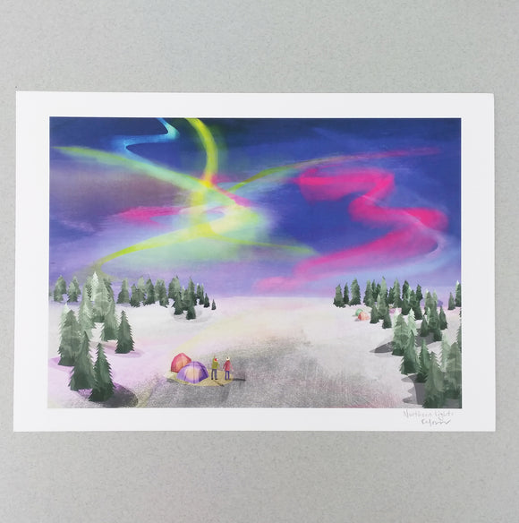 A4 Northern Lights Digital Print