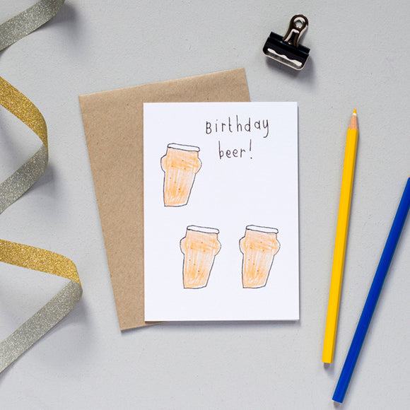 'Birthday Beer' Greetings Card