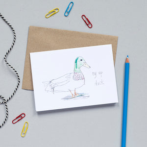 'Ey Up Duck' Greetings Card