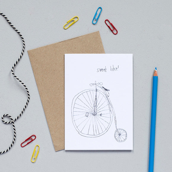 'Sweet Bike' Greetings Card