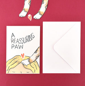 Reassuring Paw Cat Card