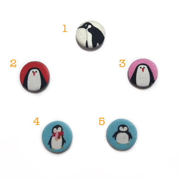 Penguin Fabric Badges