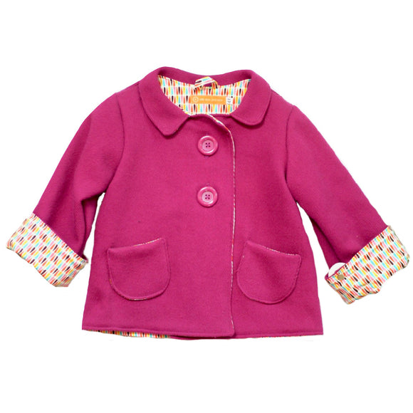 Age 4 Kids Pink Wool Coat