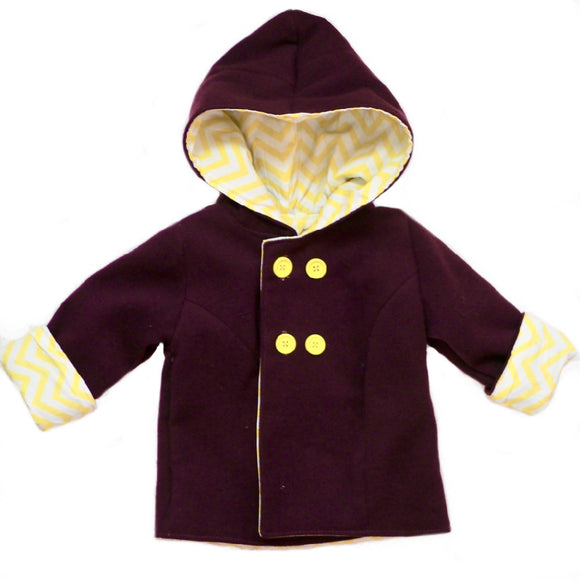 Age 1 Kids Purple Wool Coat