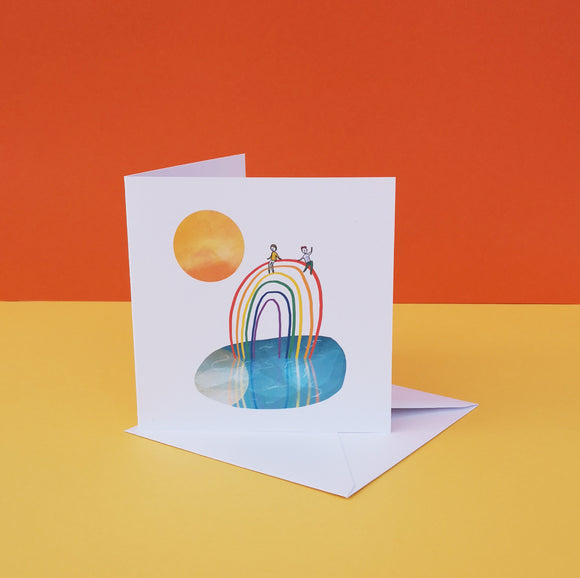 Square Rainbow lake card