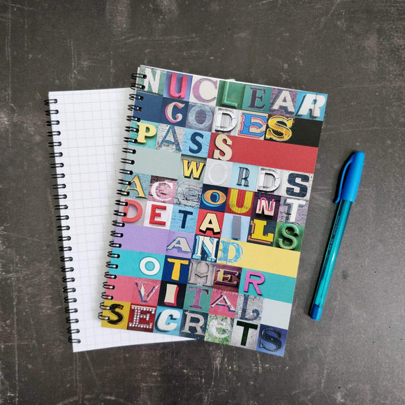 Typography Notebook - Nuclear Passcodes