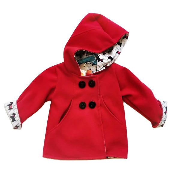Age 2 Red Duffle Coat