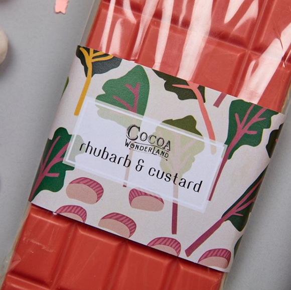Rhubarb & Custard White Chocolate Bar