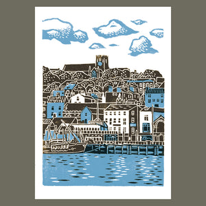 Scarborough No.1 linocut poster-print