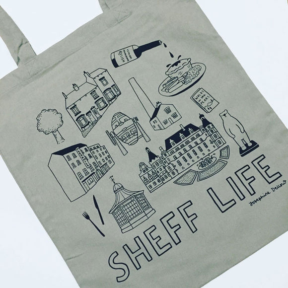 Sheff Life Screenprinted Tote Bag