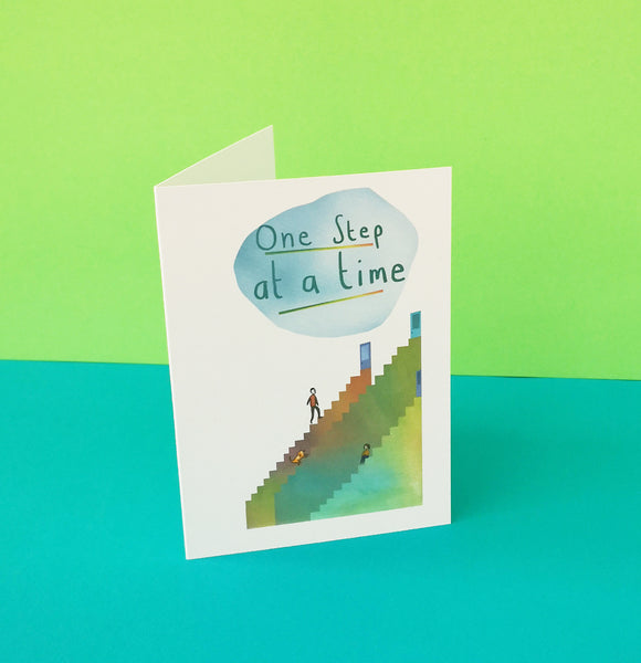 One Step at a Time Card