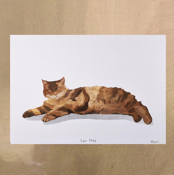 A4 Tabby Cat Digital Print