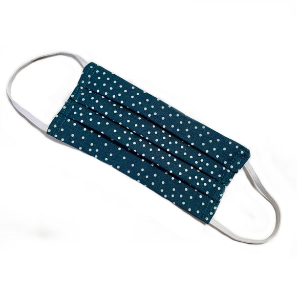Teal Dots Fabric Face Mask