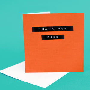 "Label Card ""Thank You Orange"""