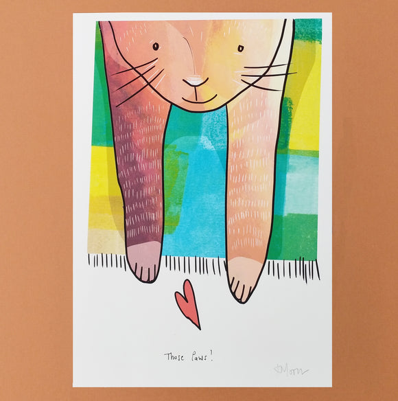 A5 Those Paws Cat Print