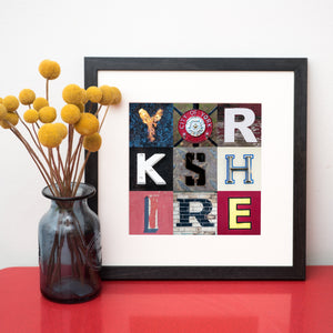 """9 Fragments of Yorkshire Typography"" Photo Montage"