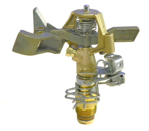 "0.5"" MPT Adjustable Full or Part Circle Brass Impact Sprinkler"