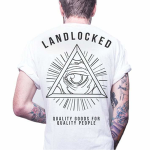 Front design of Unisex All Seeing Eye Tee - White - Imprint Merch - E-commerce